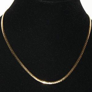 18 inch avon gold tone herringbone necklace